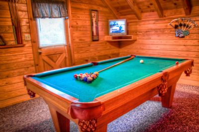 Game room with private deck