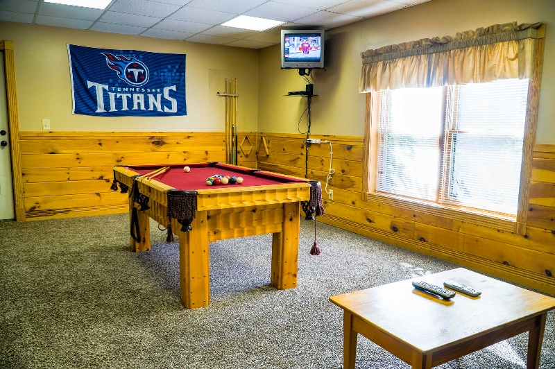 Have fun watching the game and playing pool