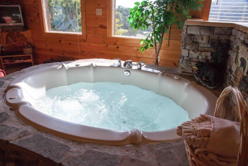 Two can enjoy this Jacuzzi