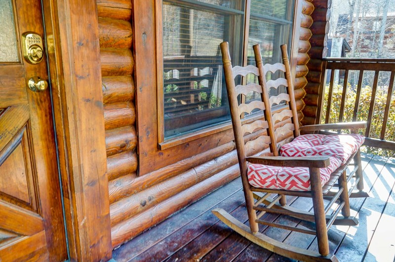 Front porch has rockers, swings and relaxation