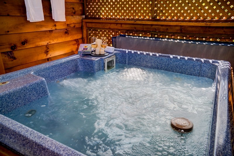 Relax in hot tub