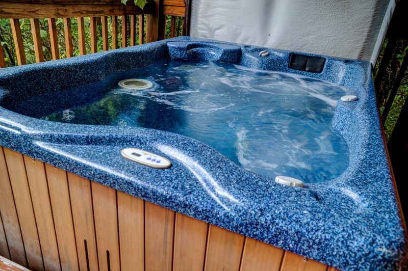 Hot tub cleaned and ready for you