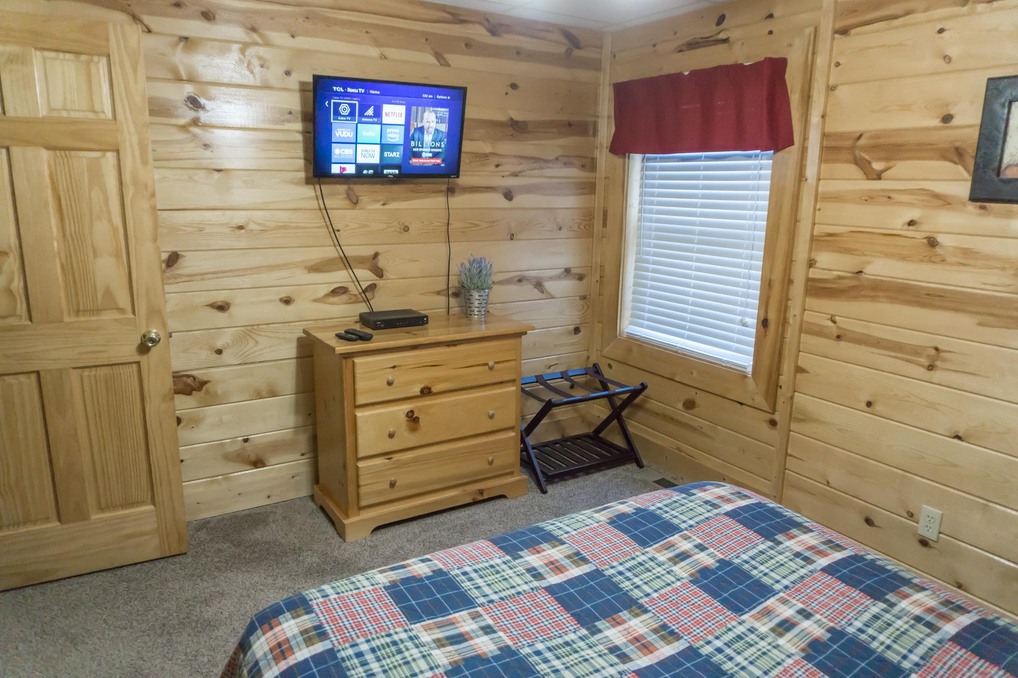 Lower level front queen bedroom