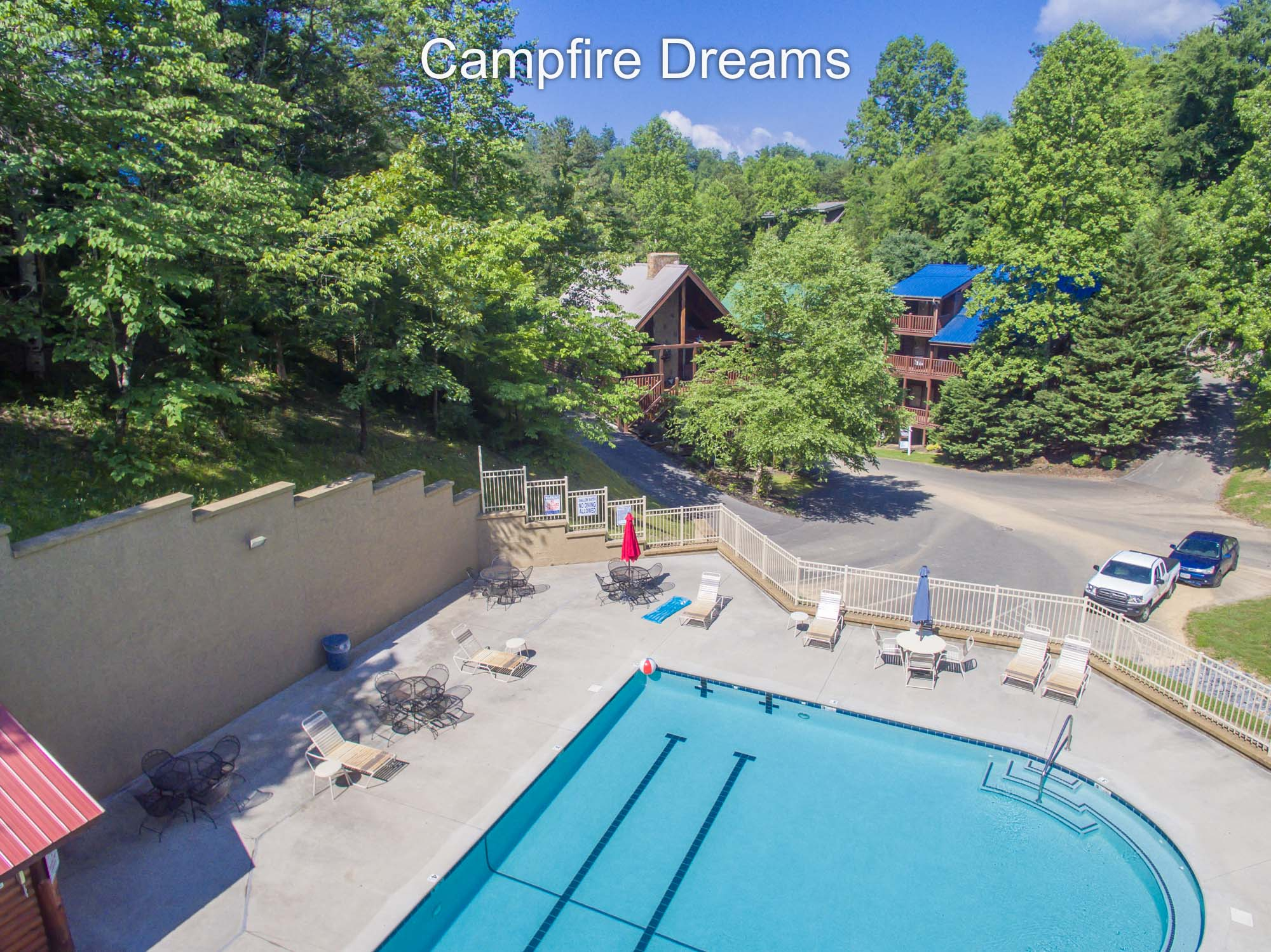 One of resort pools next to Campfire Dreams